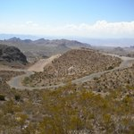 A view of part of the road driving Sitgreaves Pass to Oatman