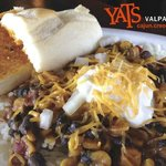 B&B – Black beans & caramelized corn in a light spicy & sweet cream sauce.