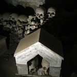 Some piles of bones in crypt