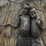 Boys from tribe Karo