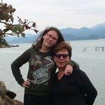 Vista do mar, com minha filha