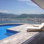 private swimming pool and view of our suite