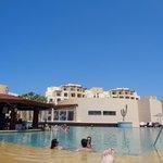Pool and swim up bar