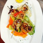 Pork souvlaki. From our Greek section
