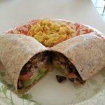 Portabella Wrap w/ coleslaw