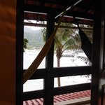 view from private room + hammock
