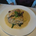 Lemon/mustard roasted chicken entree