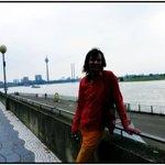 Небережная реки Райн (Рейн) перед дождём.