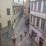 The lovely street view from the window