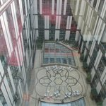 looking down on the atrium