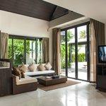 Pool villa living area