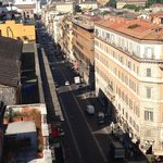 The Via Nazionale as seen from the roof
