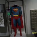 Superman outfit worn by Chris Reeve EMP museum