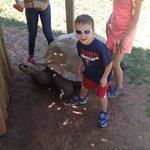 Cade & giant tortoise!
