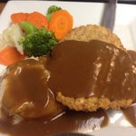 Lunch special country fried steak