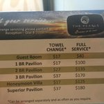 Paying for towel change and room service after $345 pn charge - what the!