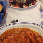 Aubergines and Shrimp Saganaki