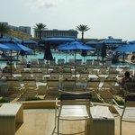 Pool area facing the Gulf