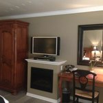 Closet, TV, Fire Place {fake} & Desk