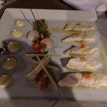 i filetti di spigola (ceviche sea bass)