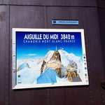 The sign from the top of Mont Blanc.