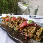 Freekeh Salad with Dates, Pomegranate, Pistachios, and Smoked T omato