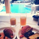 la vista dalla sala colazione
