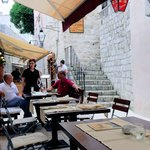 Storia outside tables