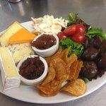 Hearty cheese ploughman's