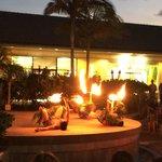 Free luau-style show on Monday and Thursday