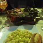 Gorgeous Gorgonzola gnocchi & carbonara - perfect!