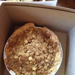 Apple crumble pie - see those crumbles? Good to the last one!
