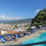 View of Sorrento from pool area.