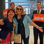 L'arrivo all'aeroporto di Praga