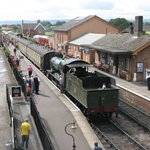 View of Bishops Lydeard with 7828 Norton Manor ready to depart