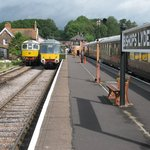 Bishops Lydeard, the DMU was working a shuttle service for the steam fair at Norton Fitzwarren