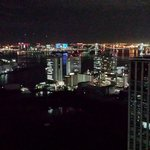 Tokyo Bay at night from the 33rd floor