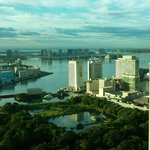 Tokyo Bay from my room on the 33rd floor
