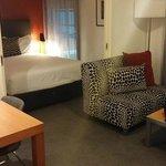 Lounge and bedroom with dividing doors between (1 bedroom spa)