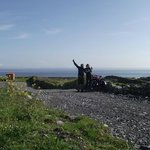 Me and my Girlfriend up on inishmore - Aran Island with our bikes