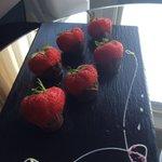 Chocolate covered strawberries! Yummie!