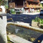 Fontaine sur la terrasse de la Carline