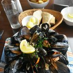 Delicious huge mussels