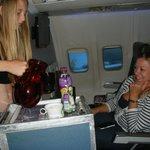 Passengers enjoying the flight