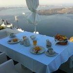 Breakfast on the terrace (room 105)