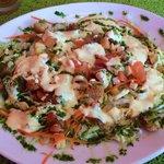 Ensalada de salmón del menú