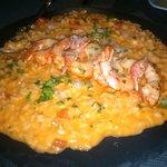 risotto de camarão