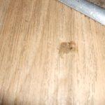 sticky mark on kitchen floor