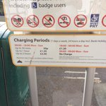 FYI Short stay car parking charges