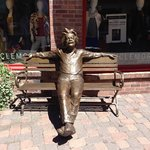 One of many fabulous bronze works in Vail Village.